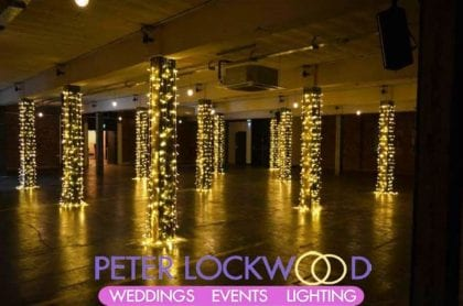 wedding lighting Victoria Warehouse