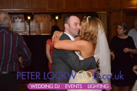 wedding first dance in the Penny Farthing Suite