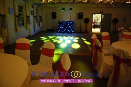 wedding disco set up at quarry bank mill