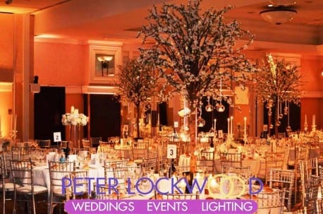 wedding lighting in the alexandra suite midland hotel manchester.