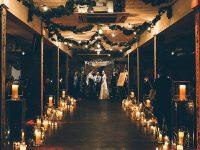 Industrial Warehouse Winter Jewish Wedding Lighting