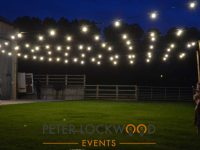 Farm Wedding Lighting