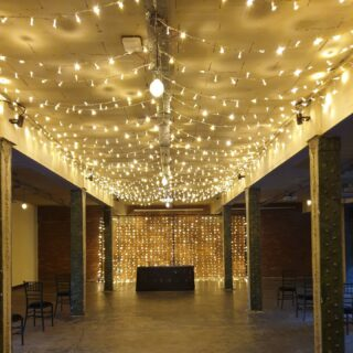 This was thursdays set up for todays Wedding Ceremony in the Bays at Victoria Warehouse.We hope the happy couple have a life time of happiness #fairylights #fairylighcanopy #weddinglighting #weddingaisle