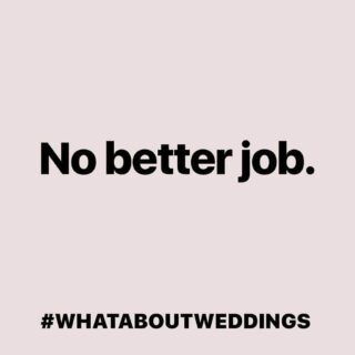 There is no better job than one that allows you to be part of a day that will live in the memories of everyone forever #whataboutweddings #wemakeevents