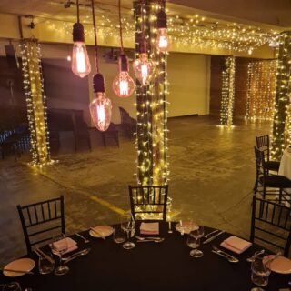 I have set up some lighting in the stunning Victoria Warehouse to demo what your wedding might look like. To view this amazing venue phone them on 0161 974 1200 or email specialevents@victoriawarehouse.com⁣ if you book your big day in with VW before the end of 2020 they will throw in a £500 bar tab to kick start the wedding festivities!⁣ ⁣#edisonbulb #fairylights #candles #wemakeevents #manchesterwedding #unconditionallove #urbanwedding