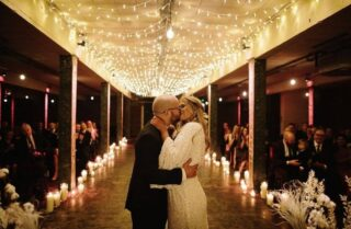 Got my first Wedding since March on Sunday. Shame its a Cermorney only they are a lovely couple and want to get married no matter what. It will look like this picture by Dan Hough but with less guests. #fairylights #weddinglighting #weddingaisle #candles